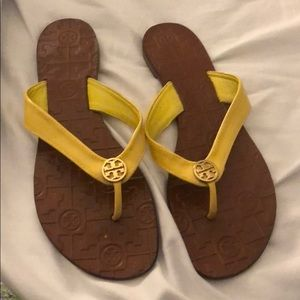 Tory Burch Size 9 Yellow Flip Flops